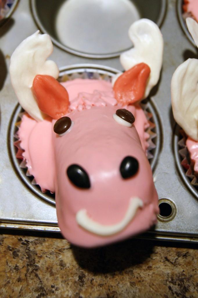 Bullwinkle Cupcake