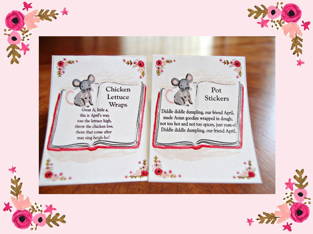 Nursery Rhyme Food Tags
