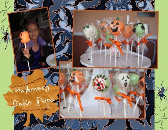 pumpkin pops, mummy pops, monster pops