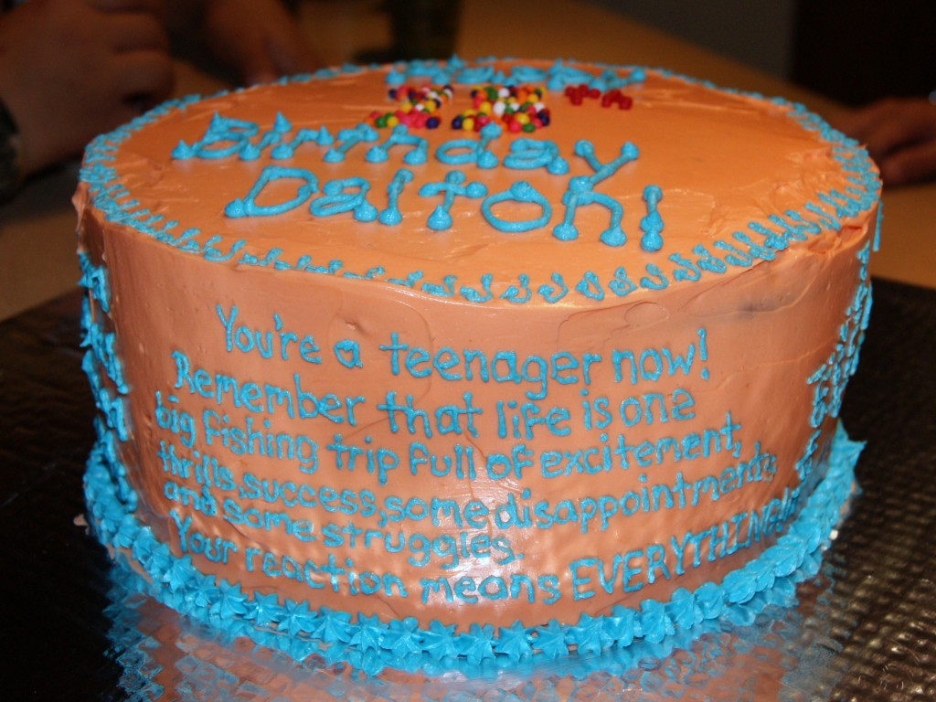 Fisherman Quote Cake