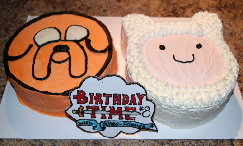 Jake and Finn Birthday Cakes