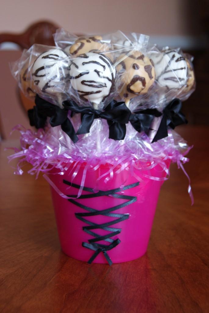 Cheetah Print Cake Pops
